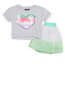 Baby Girl Kensie Sequined Top and Tutu Set - 1567060990943