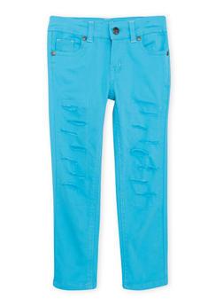 Girls 4-6X Rip and Repair Skinny Jeans - 1601054730005