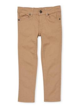 Girls 4-6x Solid Skinny Jeans - KHAKI - 1601054730009