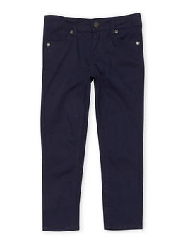Girls 4-6x Solid Skinny Jeans - NAVY - 1601054730009