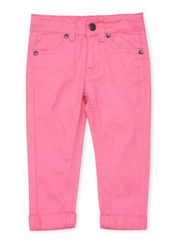Girls 4-6x Solid Skinny Jeans - PINK - 1601054730009
