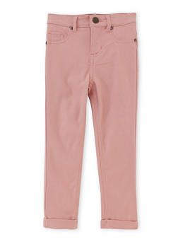 Girls 4-6x Jeggings with Fixed Cuffs - 1601056571570