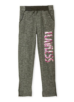 Girls 7-16 Marled Joggers with Flawless Graphic - 1602038340011
