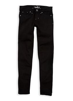 Girls 7-16 Black Twill Skinny Pants - 1602054730012