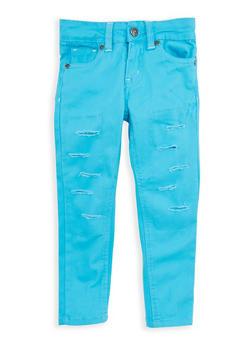 Girls 7-16 Rip and Repair Twill Skinny Pants - 1602054730020