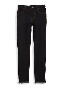 Girls 7-16 Denim Knit Skinny Pants - 1602056570018