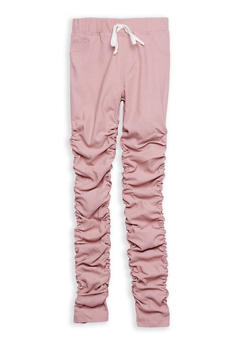 Girls 7-16 Hyperstretch Ruched Leg Pants - 1602056570044