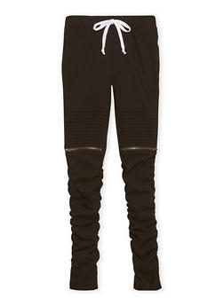 Girls 7-16 Moto Jeggings with Zipper Accents - 1602056577008