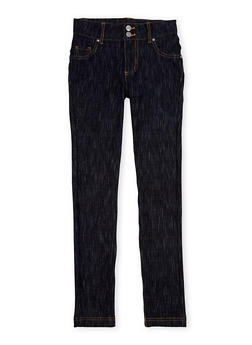 Girls 7-16 Jeans with 2 Buttons - 1602056577017