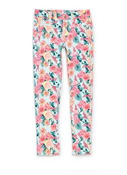 Girls 7-16 Floral Jeans - 1602063370001