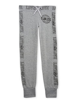 Girls 7-16 Joggers with Flawless Love Graphic - 1602063400015