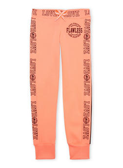 Girls 7-16 Joggers with Flawless Love Graphics - 1602063400016