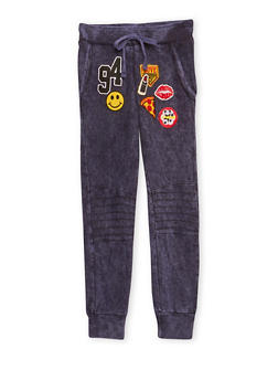 Girls 7-16 Moto Joggers with Patches - 1602063400040