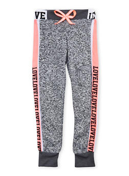 Girls 7-16 Marled Love Graphic Joggers - 1602063400049