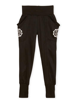 Girls 7-16 Graphic Joggers with Wraparound Pockets - 1602073270002