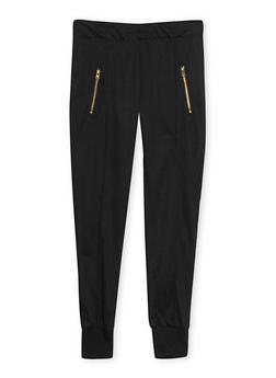 Girls 7-16 Zip Joggers with Love Graphic - 1602073270004
