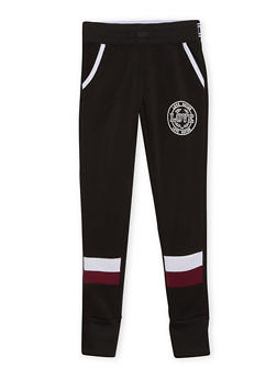 Girls 7-16 Paneled Joggers with Love Graphic - 1602073270005