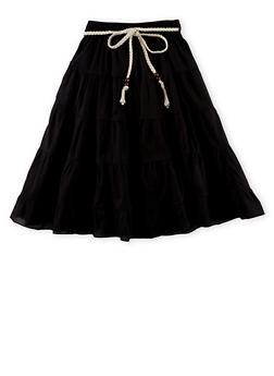 Girls 4-16 Belted Peasant Skirt - 1603038340008