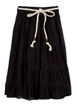 Girls 4-6x Braided Belt Peasant Skirt - 1603038340009