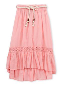 Girls 4-6x Crochet Trim Peasant Skirt - 1603038340010