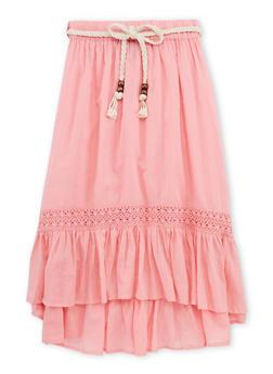 Girls 7-16 Crochet Trim Peasant Skirt - 1604038340008