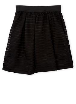 Girls 7-16 Shadow Stripe Skater Skirt - 1604051060002