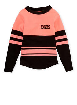 Girls 4-6x Varsity Top with Flawless Graphic - 1605033870080