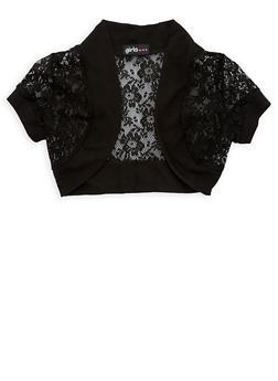 Girls 7-16 Crochet Cropped Shrug Sweater - 1606038340043
