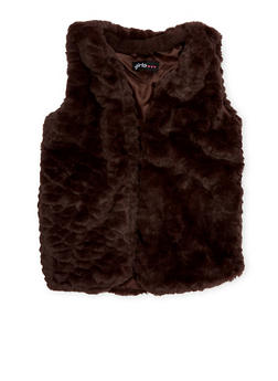 Girls 7-16 Faux Fur Vest - 1606038341205