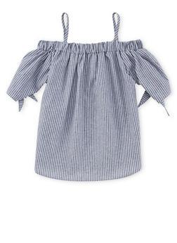 Girls 7-16 Striped Cold Shoulder Top - 1606061950006