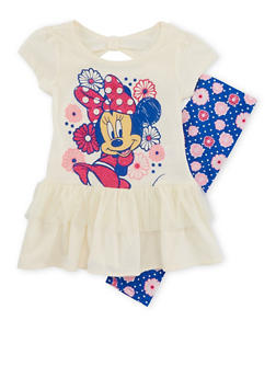 Girls 4-6x Minnie Mouse Tunic Top and Printed Leggings Set - 1607009290030