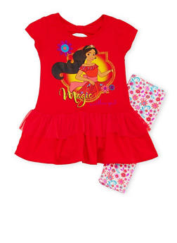 Girls 4-6x Elena of Avalor Tunic Top with Printed Leggings - 1607009290031