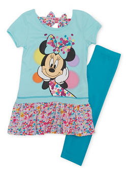 Girls 4-6x Graphic Minnie Mouse T Shirt and Legging Set - 1607009290041