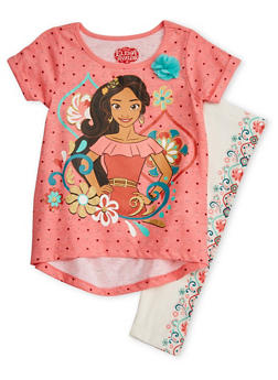 Girls 4-6X Elena of Avalor Top and Leggings Set - 1607009290045