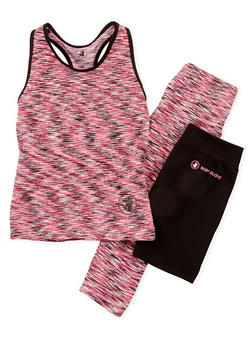 Girls 4-6x Activewear Leggings and Tank Top with Bike Shorts Set - 1607023260002