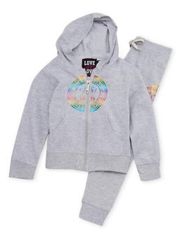 Girls 4-6x Graphic Hoodie and Joggers Set - 1607063400003