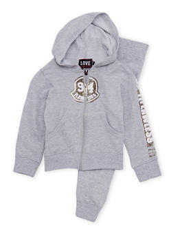 Girls 4-6x Hoodie and Joggers Set with Flawless Graphic - 1607063400004