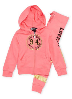 Girls 4-6x Graphic Hoodie and Joggers Set - 1607063400006