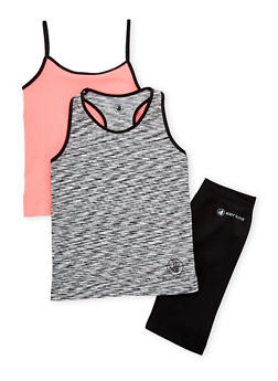 Girls 7-16 Activewear Tank Tops and Bike Shorts Set - 1608023260011