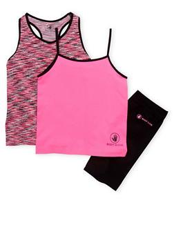 Girls 7-16 Activewear Tank Tops and Bike Shorts Set - 1608023260012