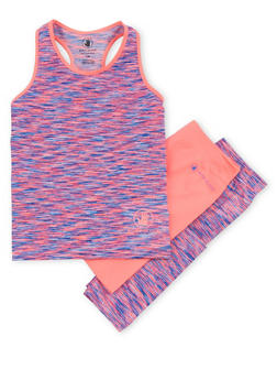 Girls 7-16 Activewear Leggings and Tank Top with Bike Shorts - 1608023260015