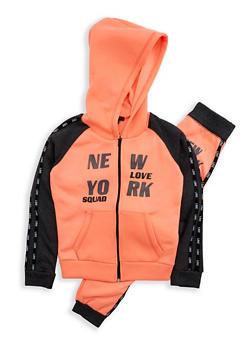 Girls 7-16 New York Graphic Sweatshirt and Sweatpants - 1608038340013