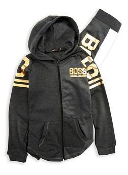 Girls 7-16 Boss Graphic Sweatshirt and Sweatpants - 1608038340018