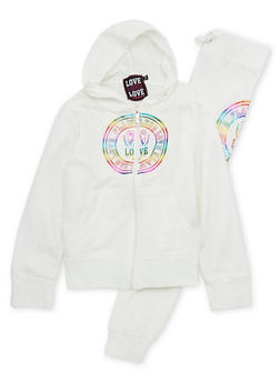 Girls 7-16 Hoodie and Joggers Set with Flawless Love Graphic - 1608063400006
