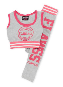Girls 7-16 2 Piece Flawless Graphic Crop Top with Legging Set - 1608063400010