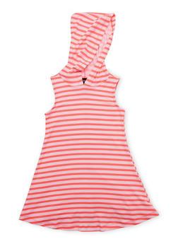 Girls 4-6x Striped Hooded Tank Dress - 1614051060080