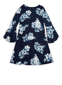 Girls 4-6x Bell Sleeve Skater Dress - 1614060580017