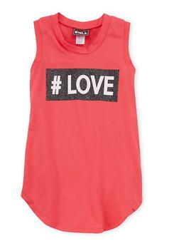 Girls 7-16 Love Graphic Tank Dress - 1615021280037