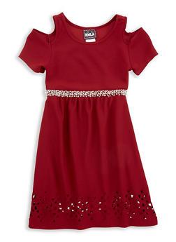 Girls 7-16 Laser Cut Hem Dress - 1615021280045