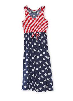 Girls 7-16 Americana Tank Dress - 1615038340040